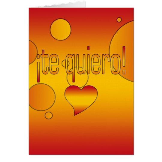 ¡Te Quiero! Spain Flag Colors Pop Art Card