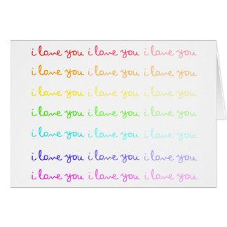 te quiero te quiero te quiero tarjeta