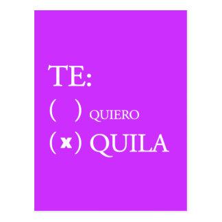 Te Quiero Tequila Postcard