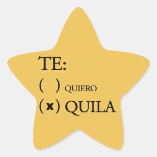 Te Quiero Tequila Star Sticker