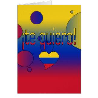 ¡Te Quiero! Venezuela Flag Colors Pop Art Card