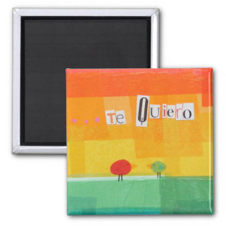 Te Quireo 2 Inch Square Magnet