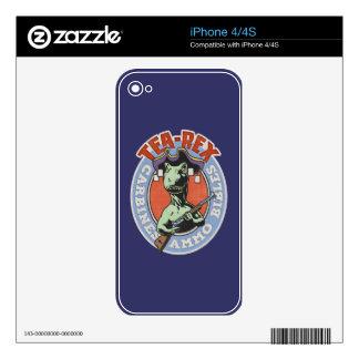 Té-Rex Calcomanía Para El iPhone 4