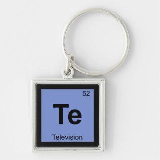 Te - símbolo de la tabla periódica de la química d llavero personalizado