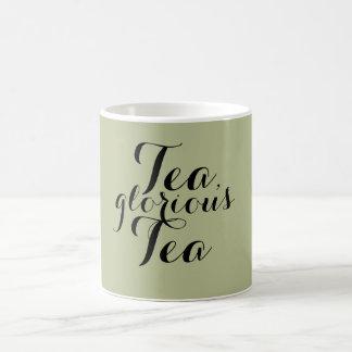 Té, taza gloriosa del té