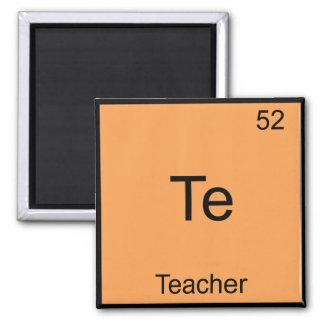 Te - Teacher Funny Chemistry Element Symbol Tee 2 Inch Square Magnet