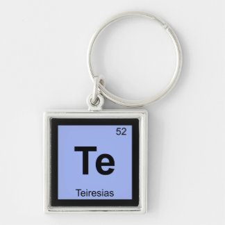 Te - Teiresias Greek Chemistry Periodic Table Keychains