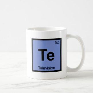 Te - Television Chemistry Periodic Table Symbol Coffee Mug