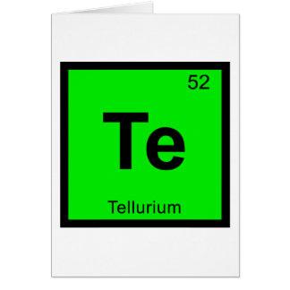 Tellurium cards greeting photo cards zazzle te tellurium chemistry periodic table symbol card urtaz Image collections