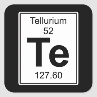 Te - Tellurium Square Sticker