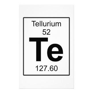 Te - Tellurium Stationery