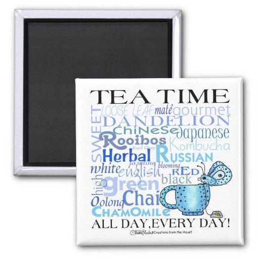 ¡Té Tiempo-Todo día, cada día! Iman De Frigorífico