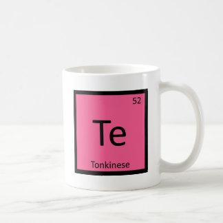 Te - Tonkinese Cat Chemistry Periodic Table Symbol Classic White Coffee Mug