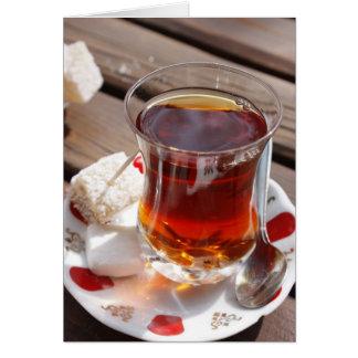 Té turco (isleta) tarjeta de felicitación