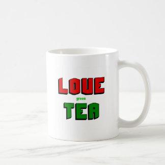 Té verde del amor taza de café