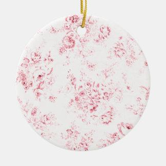 Té y buñuelos adorno navideño redondo de cerámica