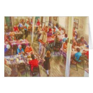 Té y galletas en Gabarus por el mac de Shawna Tarjeta De Felicitación