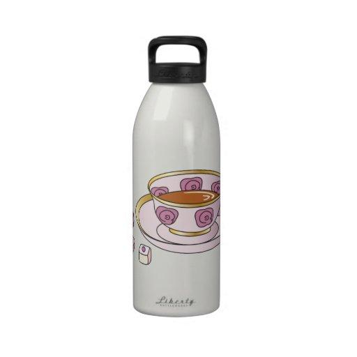 Té y pastelitos botella de agua