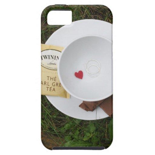 Té y romance iPhone 5 Case-Mate funda