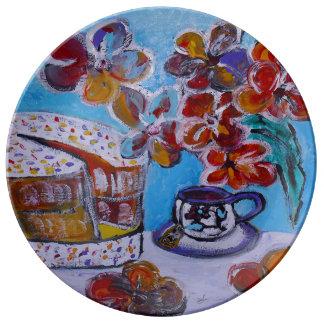 Tea and Cake Porcelain plate