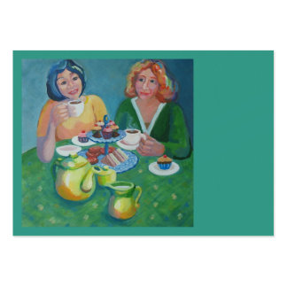 Tea and chat cafe large business card