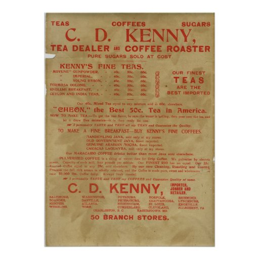Tea and Coffee ad 1943 Posters