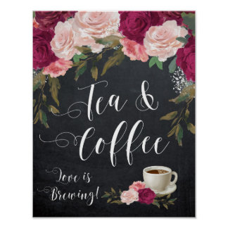 tea and coffee sign wedding poster