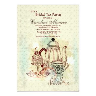 Tea and Desserts Bridal Shower Invitation