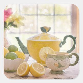 Tea and Lemon Square Stickers