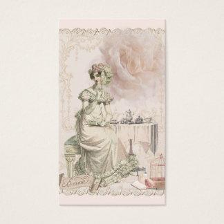 Tea and Romance Jane Austen Inspired Business Card