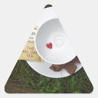 Tea and Romance Triangle Sticker