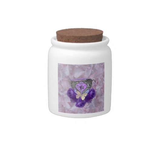 Tea and Roses Purple Candy Dish