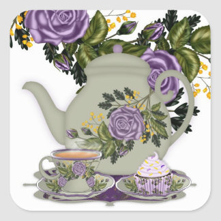 Tea And Roses Sticker