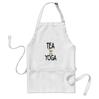 Tea And Yoga Adult Apron