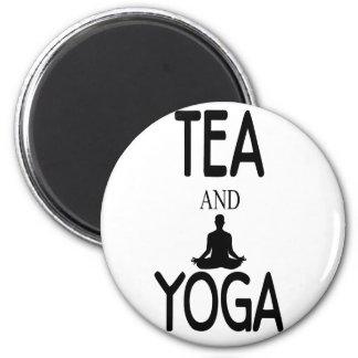 Tea And Yoga Magnet