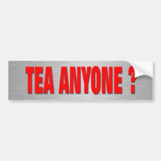Tea Anyone? Car Bumper Sticker