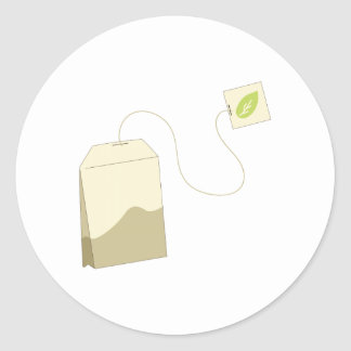 Tea Bag Classic Round Sticker