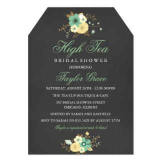 "Tea Bag High Tea Bridal Shower Invitation 5"" X 7"" Invitation Card"