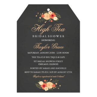 Tea Bag High Tea Bridal Shower Invitation