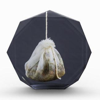 Tea bag is hung in a cup acrylic award
