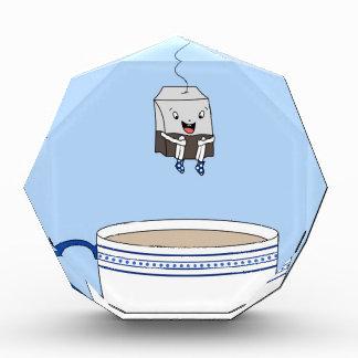 Tea bag jumping in cup acrylic award