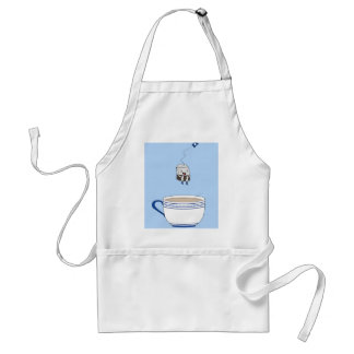 Tea bag jumping in cup adult apron