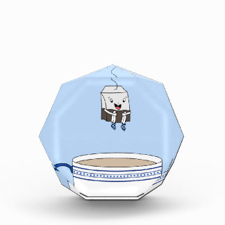 Tea bag jumping in cup award