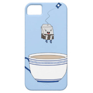 Tea bag jumping in cup iPhone SE/5/5s case