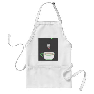 Tea bag jumping in cup of tea adult apron