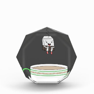 Tea bag jumping in cup of tea award