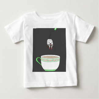 Tea bag jumping in cup of tea infant t-shirt