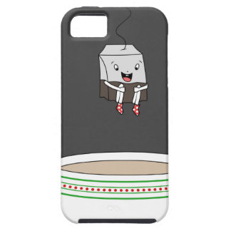Tea bag jumping in cup of tea iPhone SE/5/5s case