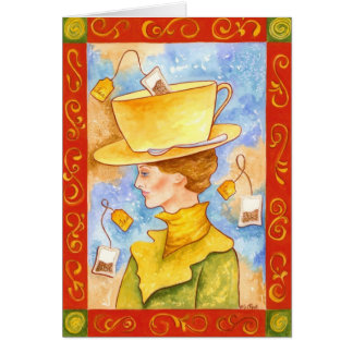 Tea Bag Lady Stationery Note Card