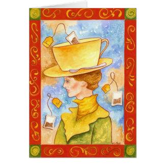 Tea Bag Lady Greeting Card